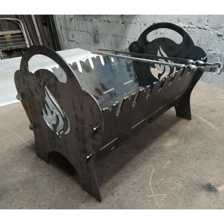 Мангал раскладной на 8 шампуров, сталь 3 мм
